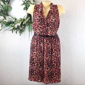 Torrid floral dress, belt, collar